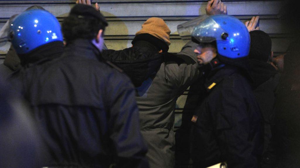 Milán sumida en altercados