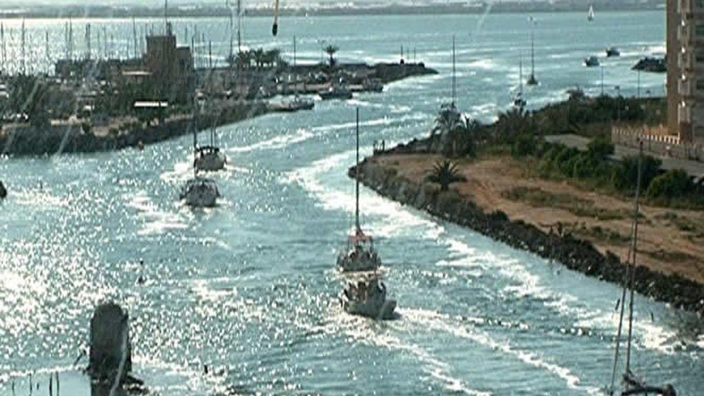 El puerto pesquero de La Manga