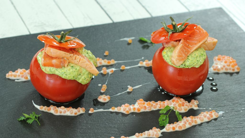 Tomates rellenos 'Georgie Dann' de 'Robin Food'