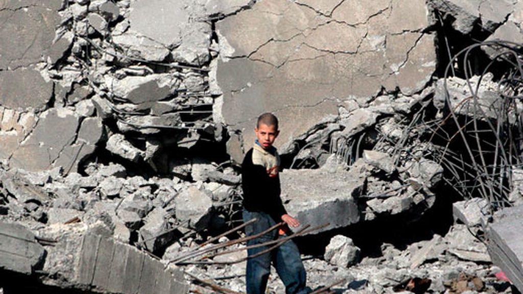 Tras quince días de masacre israelí en la franja de Gaza han muerto más de 800 palestinos, cientos de ellos civiles. Foto:EFE