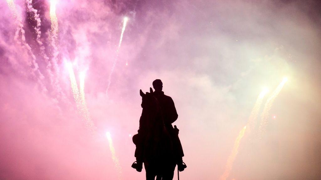 Bélgica recibe el año nuevo con un espectáculo de luz y color