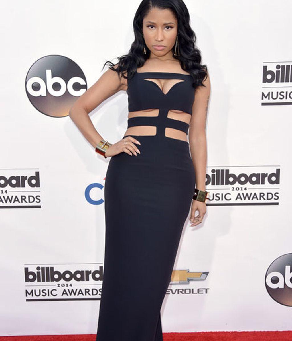 Nicki Minaj con vestido de Alexander McQueen