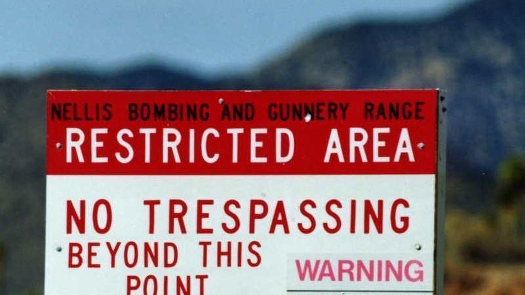 Cartel del Área 51, en Nevada, Estados Unidos