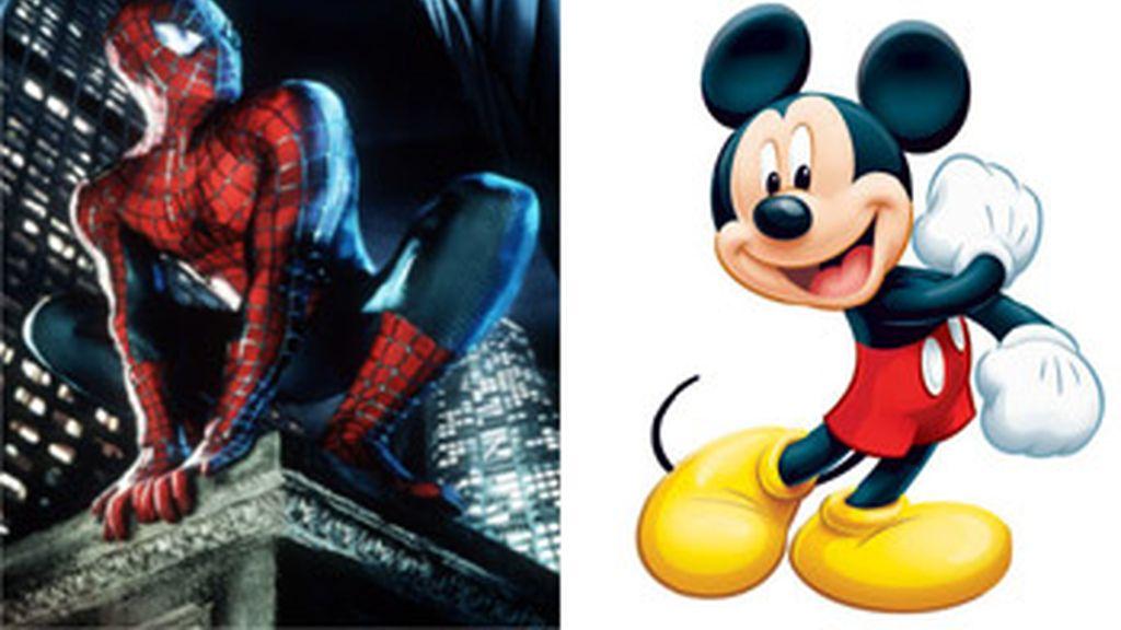 Spiderman y Mickey Mouse