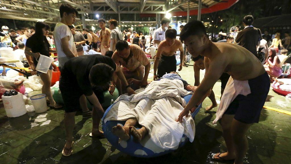 Al menos 472 heridos por una explosión en un parque acuático de Taiwan