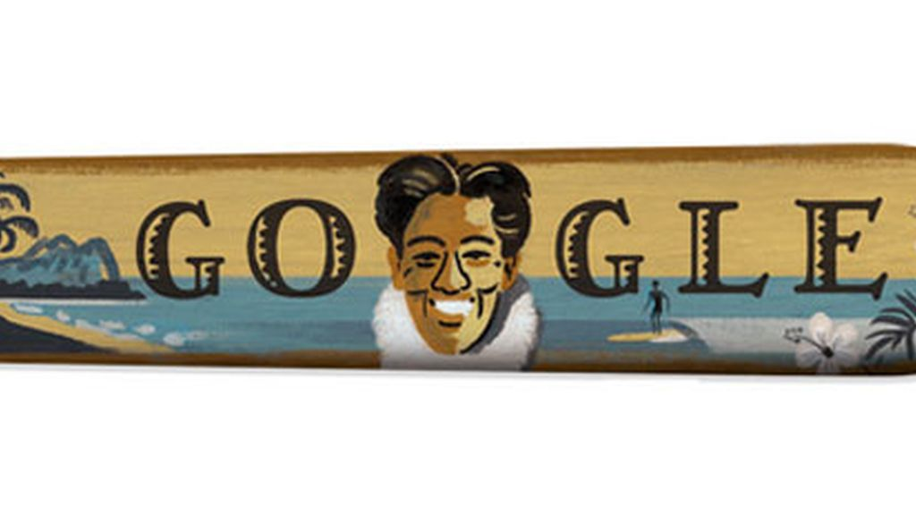 Google rinde homenaje con un doodle a Duke Kahanamoku, el padre surf