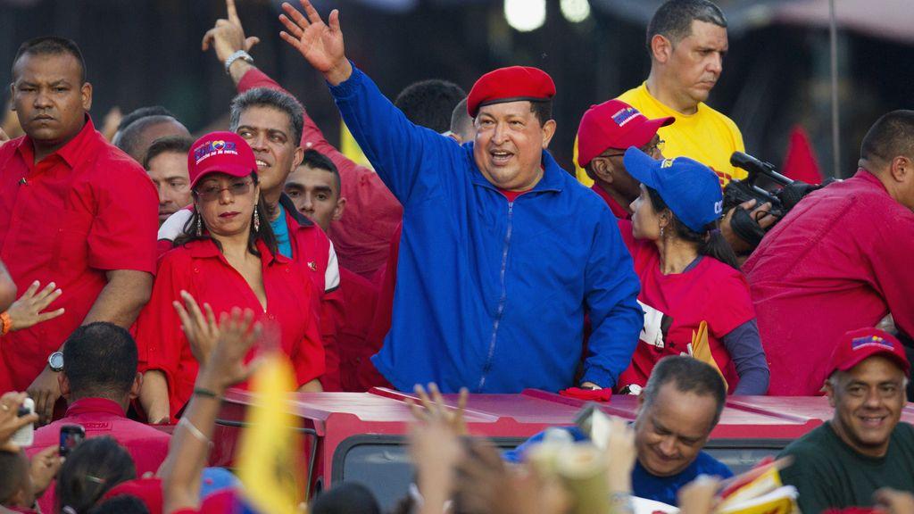 Hugo Chávez en su 58 cumpleaños en Caracas