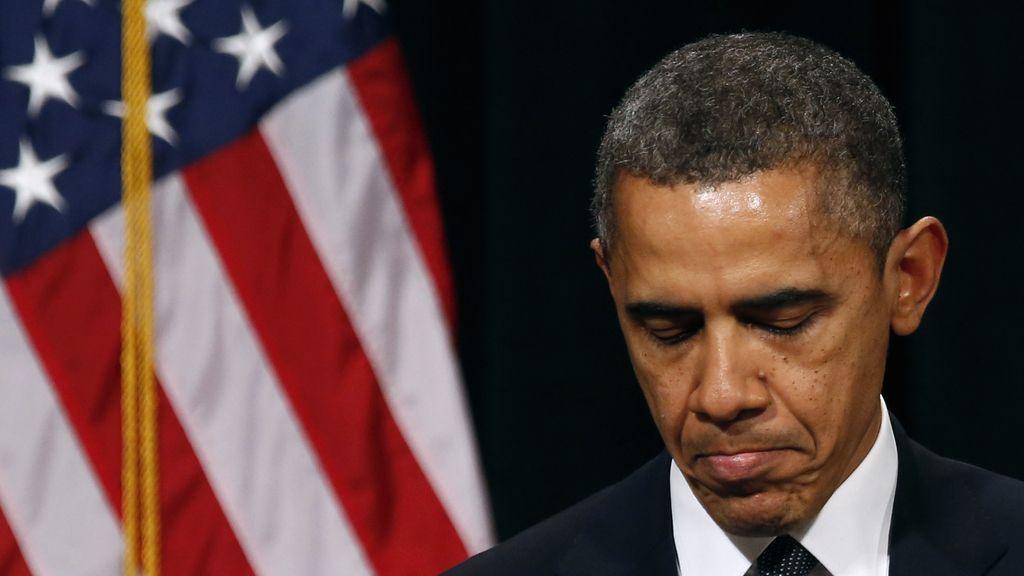 Barack Obama en la ceremonia de despedida a las víctimas de Conneticut.