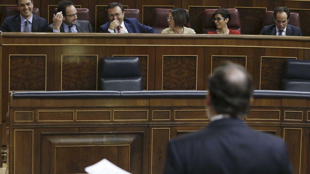 Mariano Rajoy y Pedro Sánchez en el Congreso