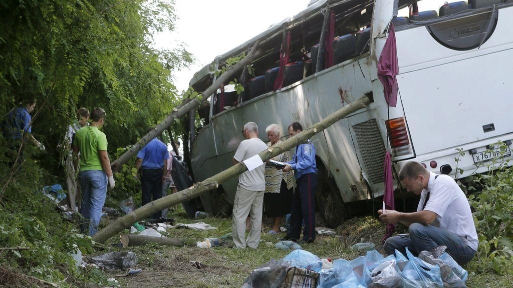 Accidente autobús en Kiev
