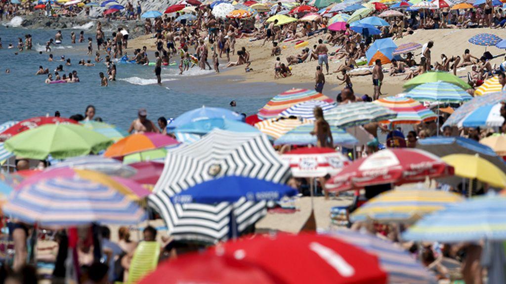 Playa de El Masnou, cerca de Barcelona, España
