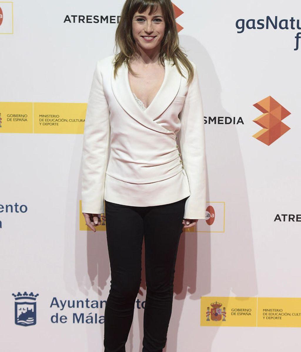 Marta Etura, actriz de 'Hablar', en la presentación del Festival de Málaga