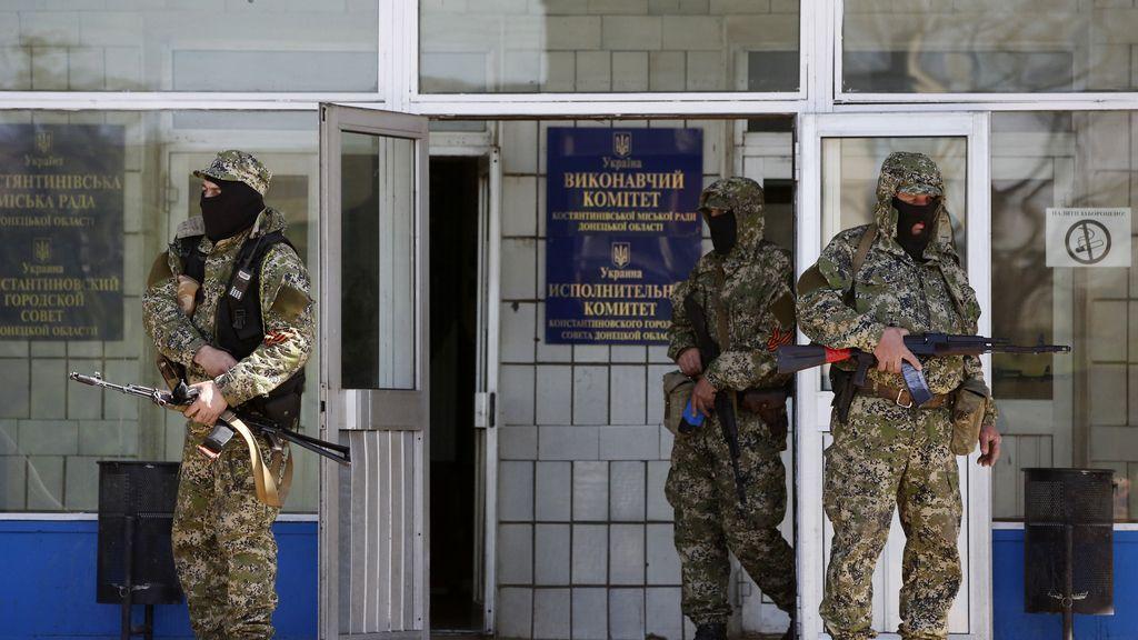 Soldados prorrusos en Konstiantinivka