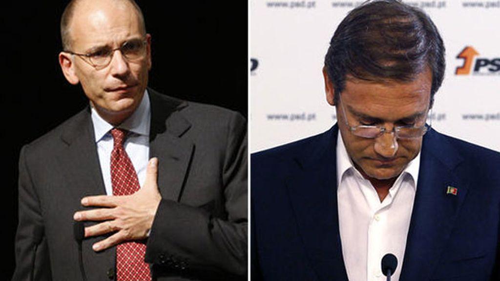 Enrico Letta y Passos Coelho
