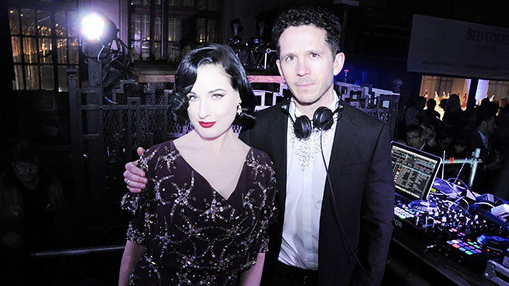 Dita Von Teese y Andrew Armstrong, de Monarchy, estrellas de la espectacular fiesta de Belvedere vodka en Madrid