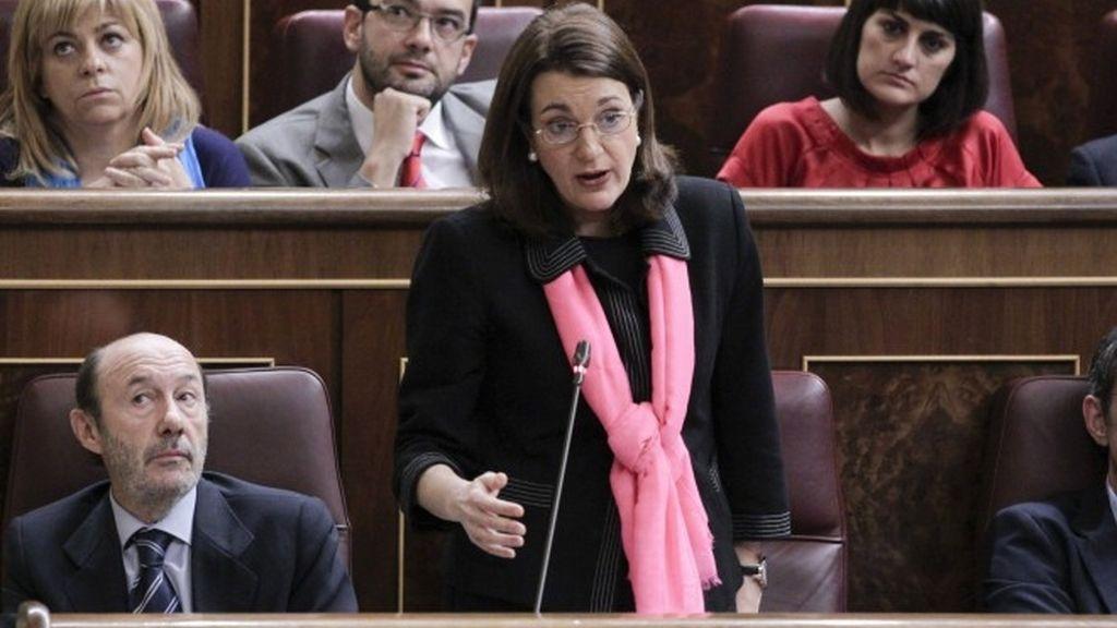 Soraya Rodríguez, portavoz parlamentario del PSOE