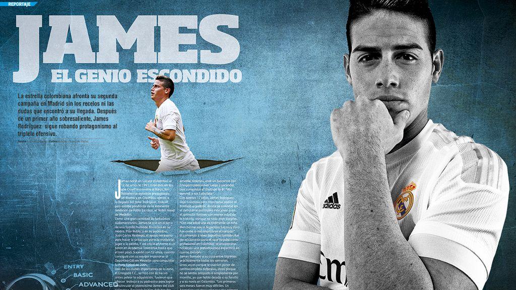 James Rodíguez, en la revista Deportes Cuatro Fútbol