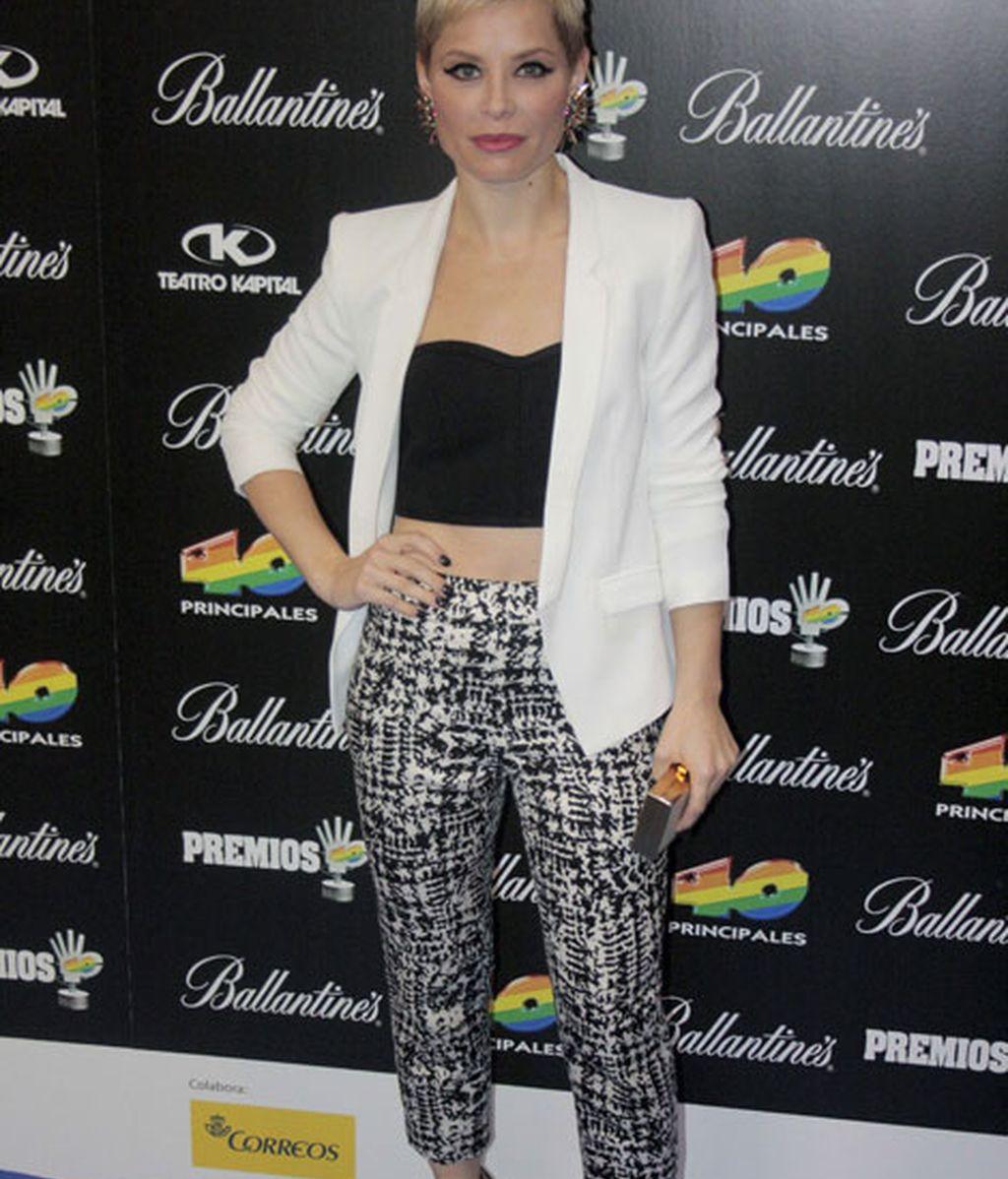 Soraya Arnelas se unió a la moda del 'crop top'
