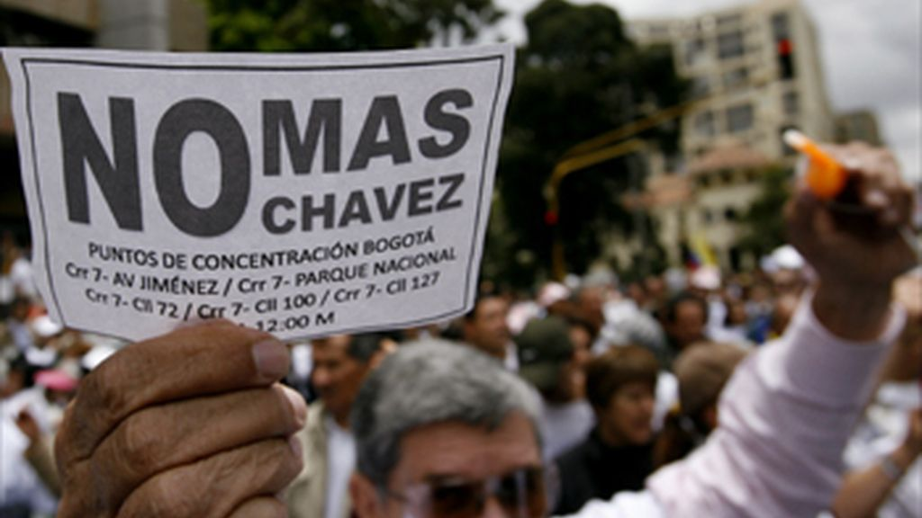 Manifestación contra Chávez en Bogotá