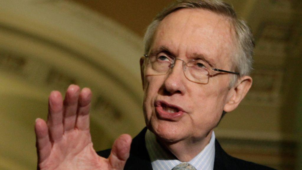 El líder de la mayoría del Senado de EEUU, Harry Reid.