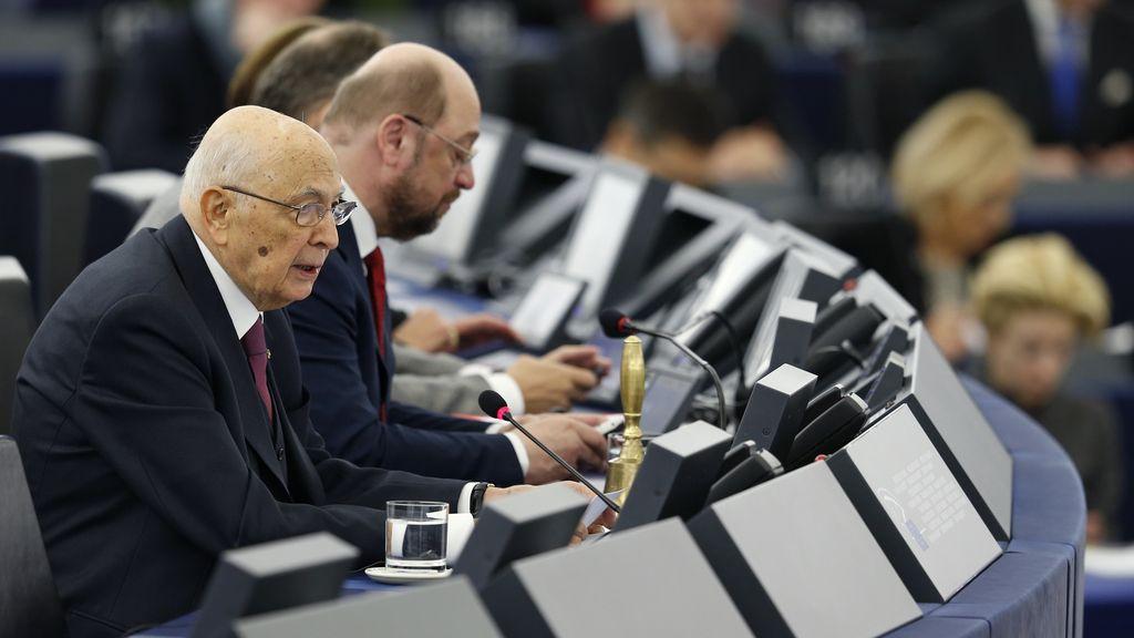 Segundo día de consultas de Napolitano en Italia para formar nuevo Gobierno