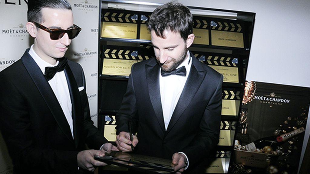Dani Rovira, el protagonista de la noche junto a Francisco de Goya, sacó un hueco para colaborar con Möet & Chandon a favor de la Casa del Actor