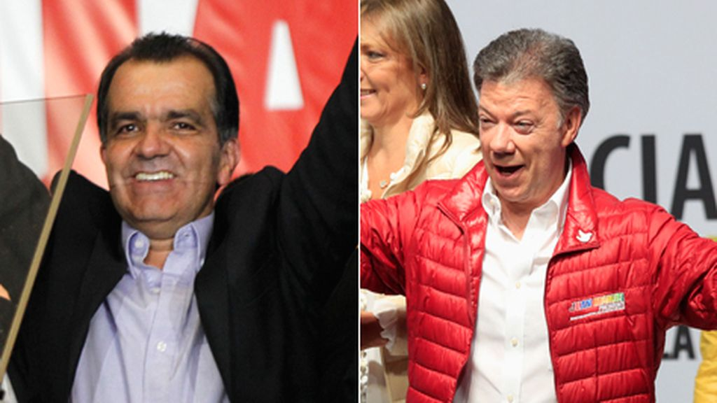 Zuluaga y Santos irán a la segunda vuelta de las elecciones en Colombia