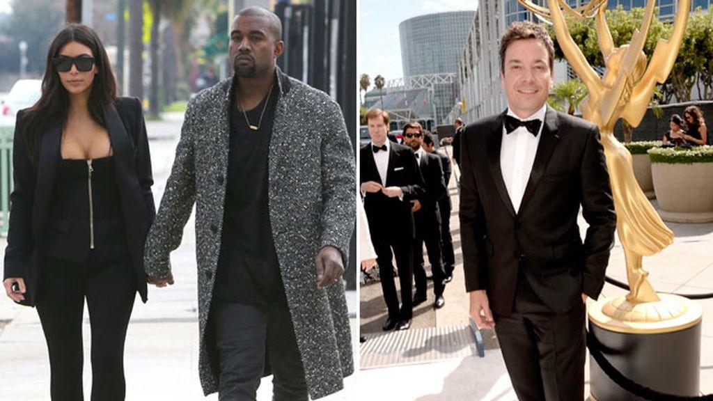 Kim Kardashian y Jimmy Fallon