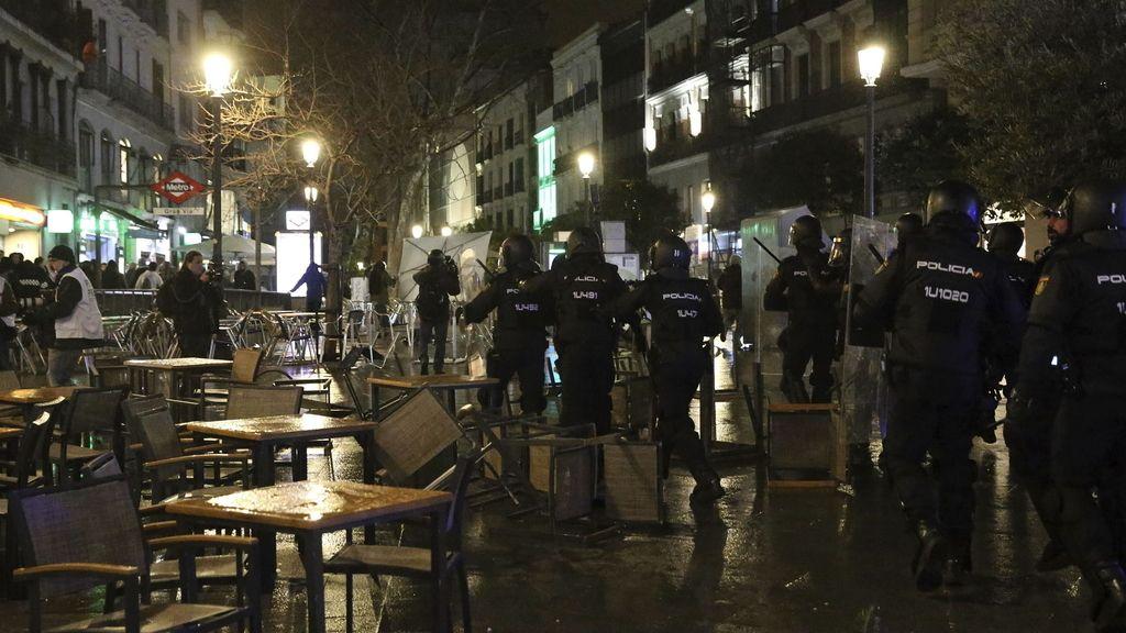 Se eleva a 17 el número de detenidos por desórdenes públicos tras las 'Marchas de la Dignidad'