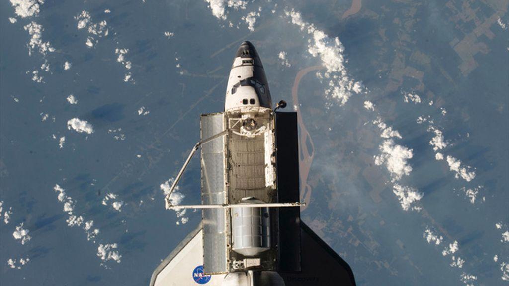 El Discovery desde la ISS