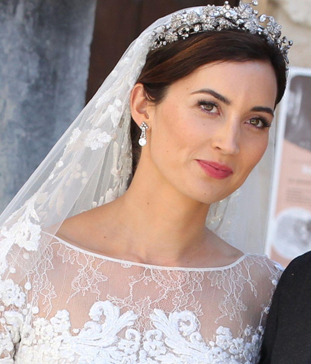 Claire Lademacher acudió al altar vestida de Elie Saab
