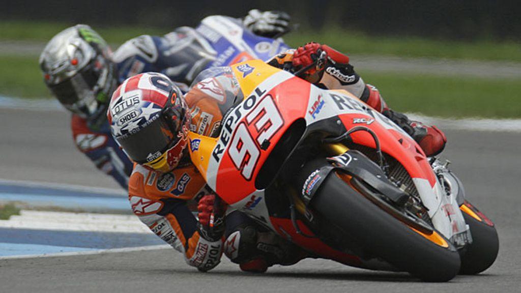 Márquez y Lorenzo en acción