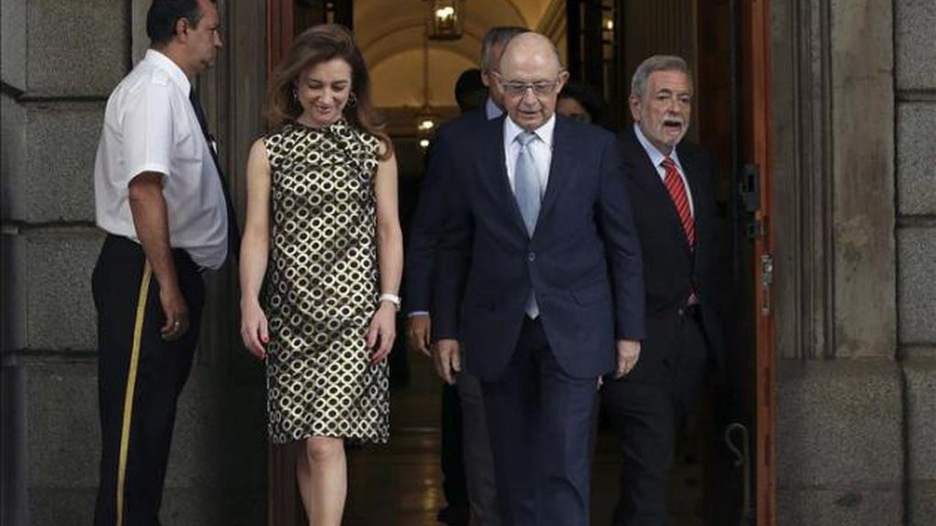 Marta Fernández Currás y Cristóbal Montoro