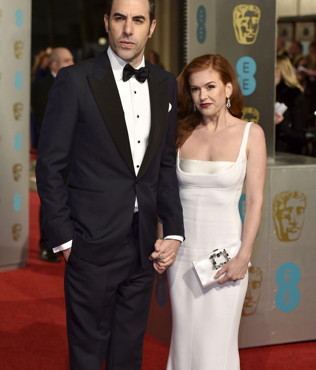 Isla Fisher y Sacha Baron Cohen