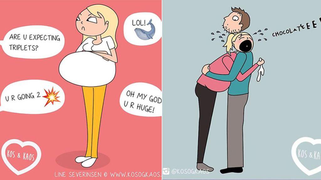 Las etapas del embarazo, vistas con humor
