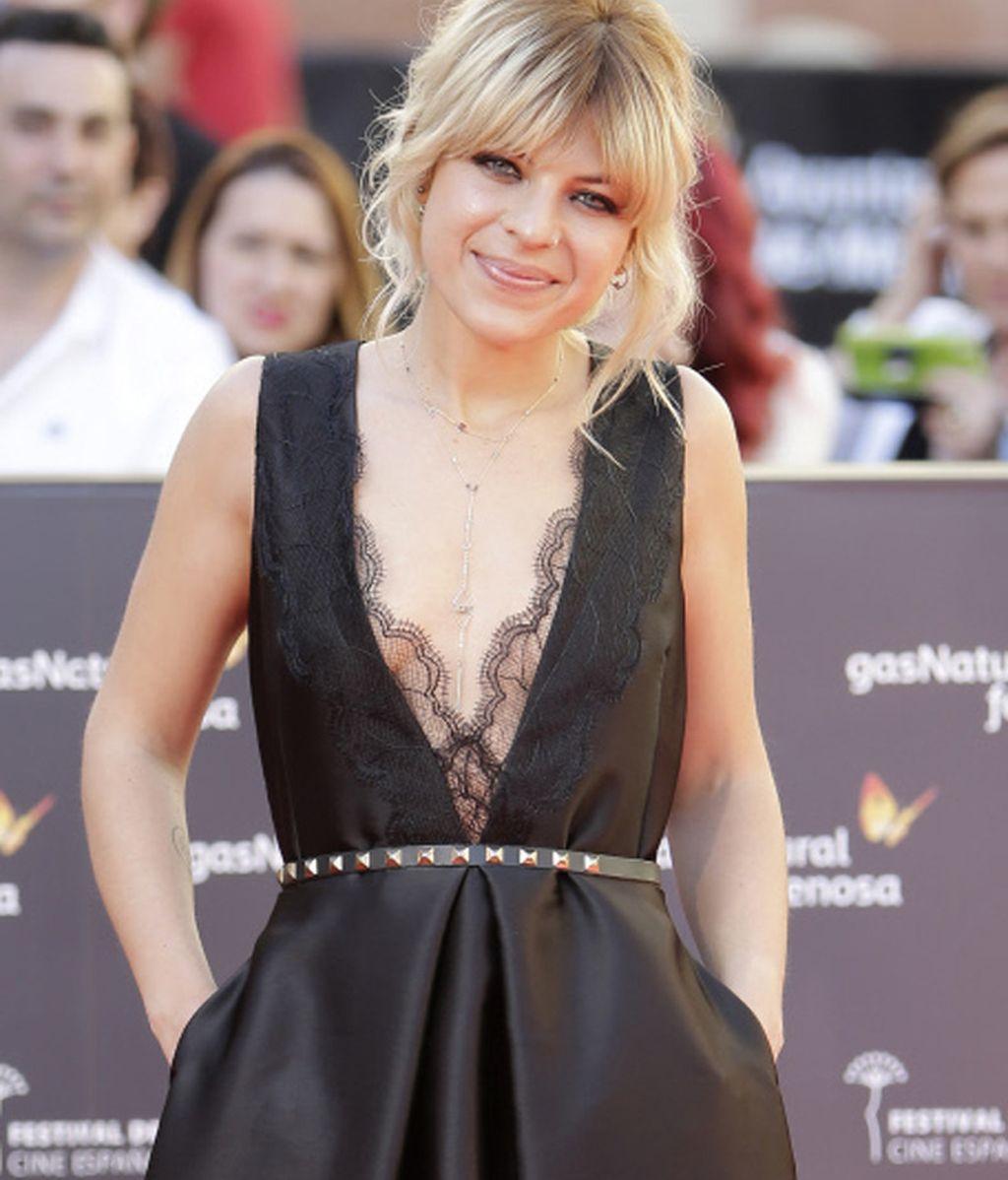 Thaïs Blume de encaje para la gala del Festival de Cine de Málaga