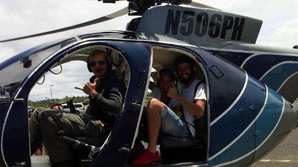 Queriendo vivir aventuras...volaron en helicóptero hasta un volcán