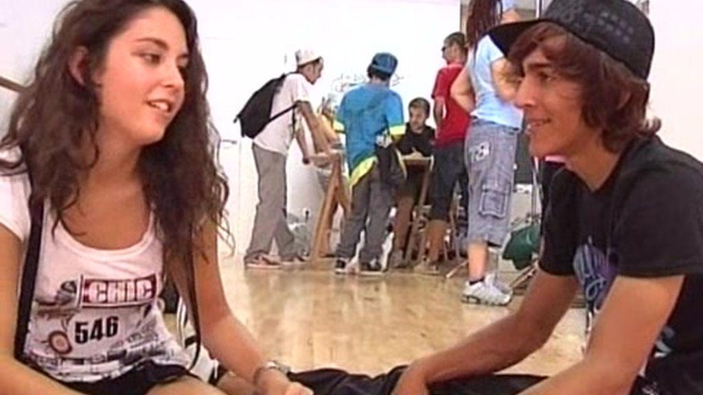 Una pareja enamorada gracias al baile
