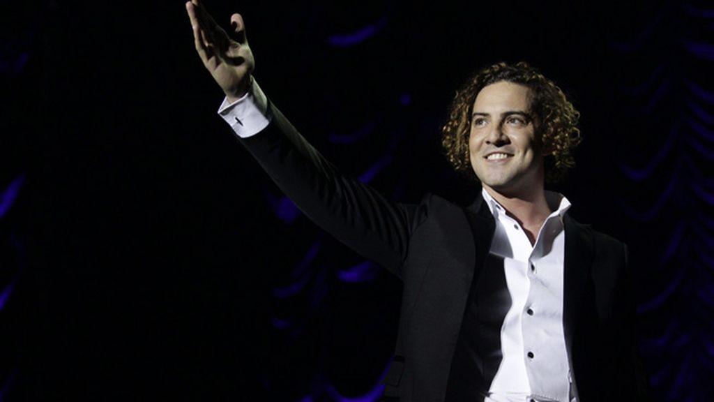 David Bisbal durante su concierto en Madrid