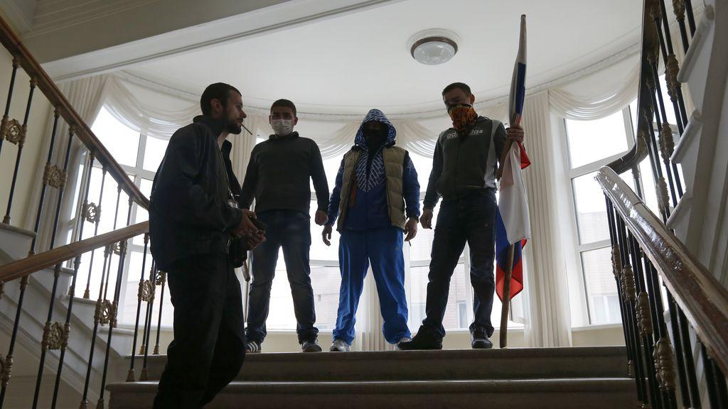 Separatistas prorrusos toman un edificio gubernamental en Horlivka