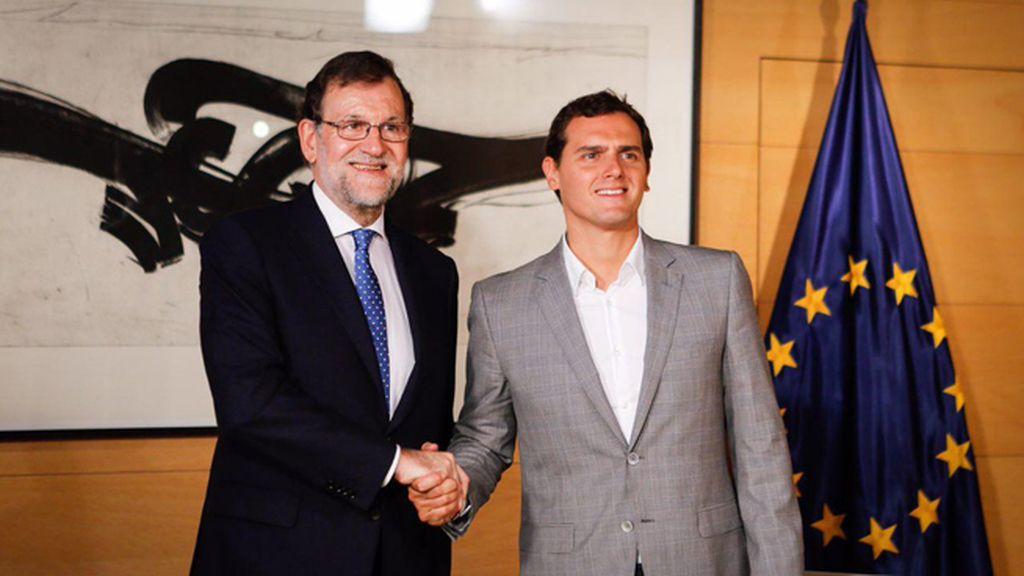Encuentro entre Mariano Rajoy y Albert Rivera en el Congreso