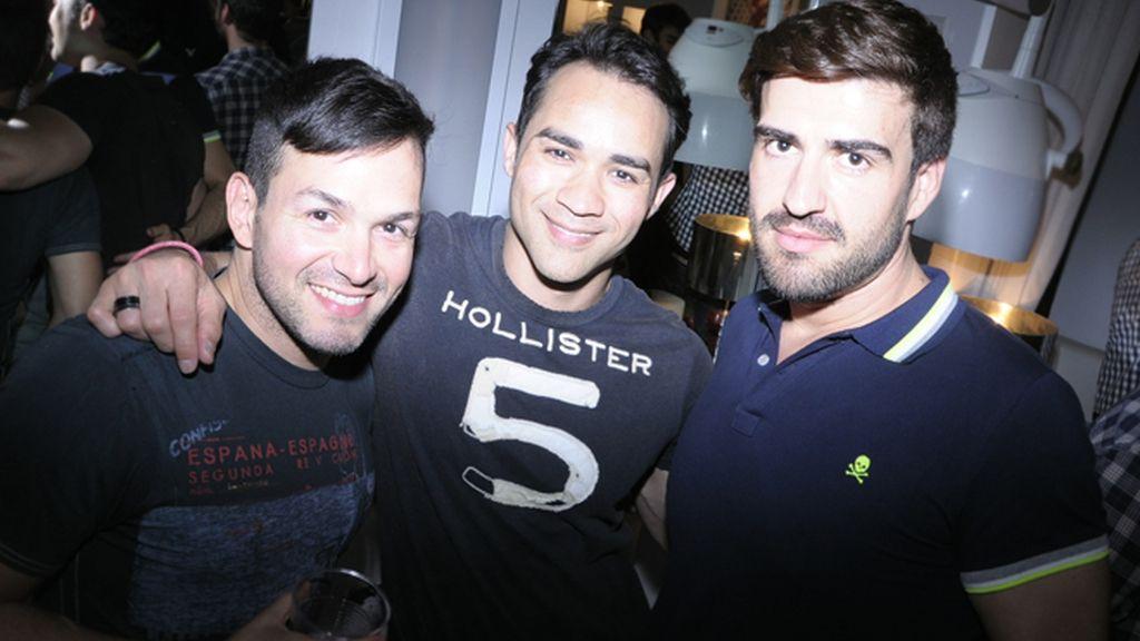 Antonio Rodríguez, Kelvin Ferrer y Carlos Colado