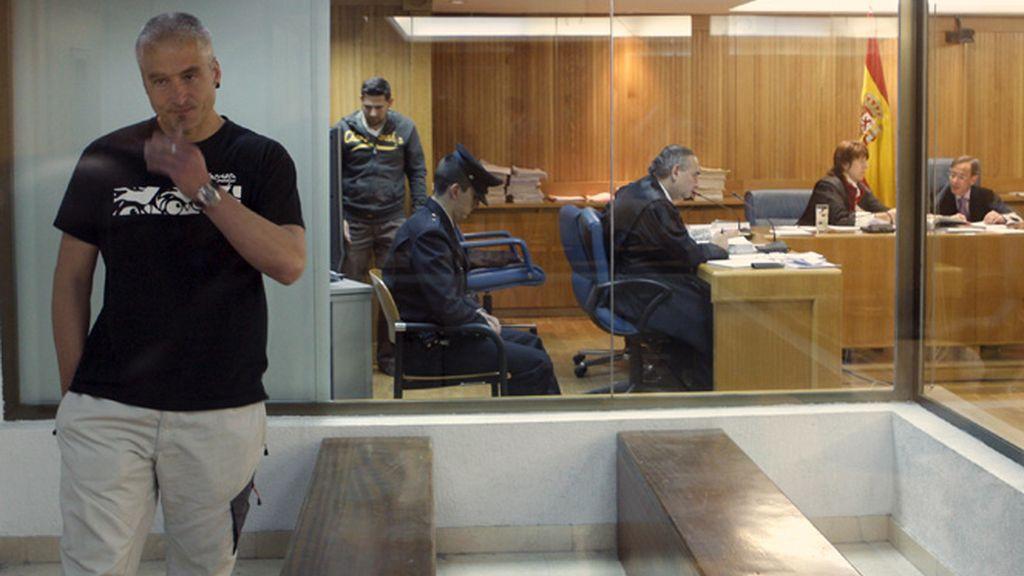 Txapote, durante el juicio