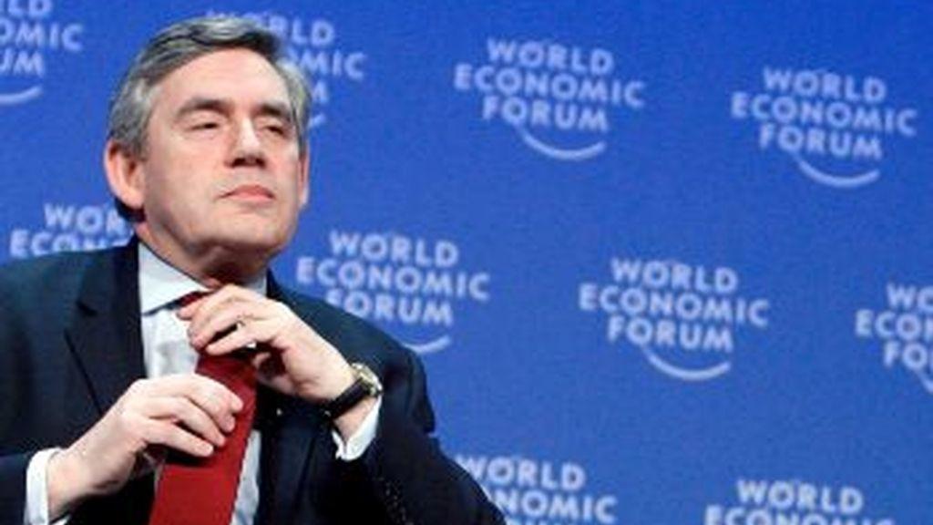 Brown, durante el Foro Económico de Davos. Foto: EFE