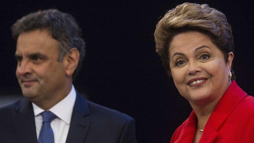Aecio Neves y Dilma Rousseff