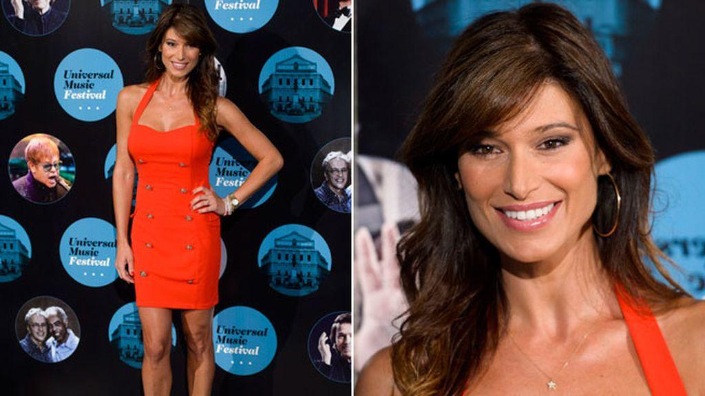 Sonia Ferrer posó con un ajustado modelo de color rojo