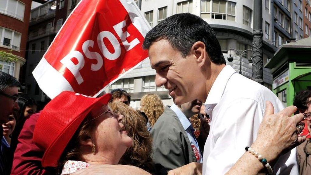Pedro Sánchez, en la manifestación del 1 de mayo en Valencia
