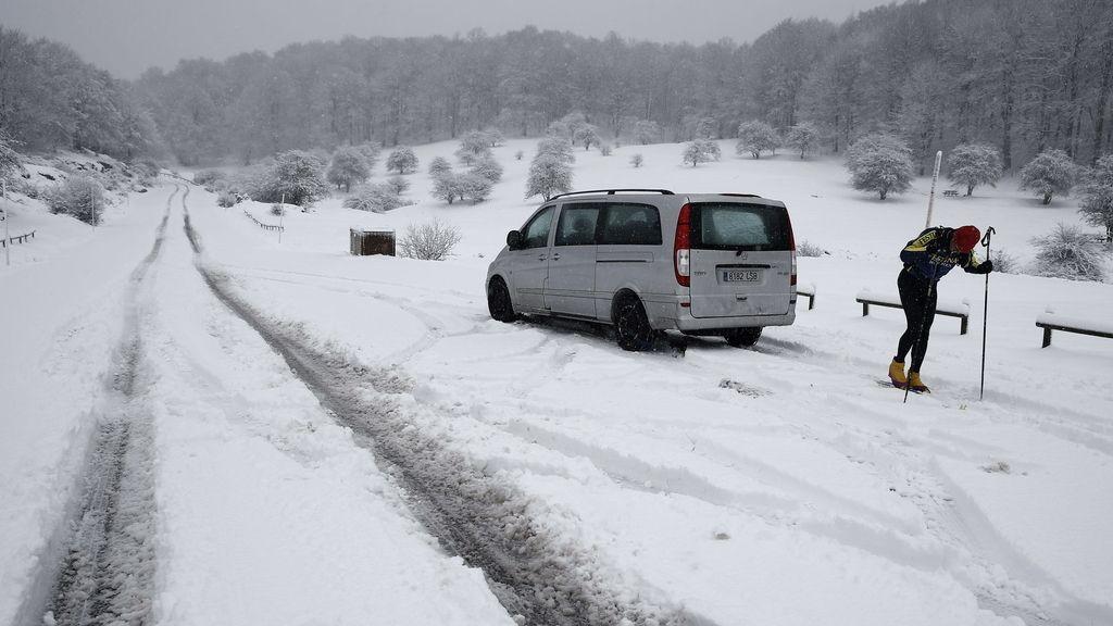 Navarra se encuentra en alerta roja por nieve