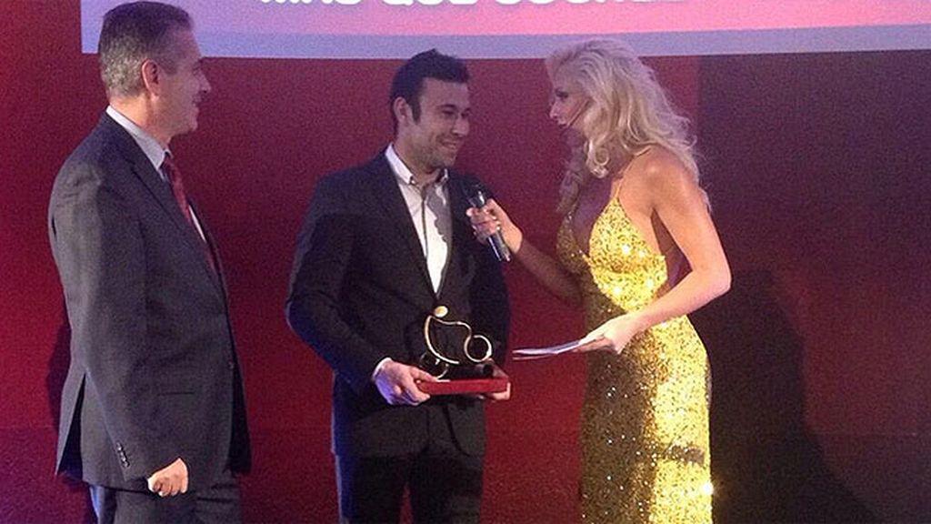 Toni Bou, campeón del mundo de Trial, recogió él premio al 'Deportista del año'