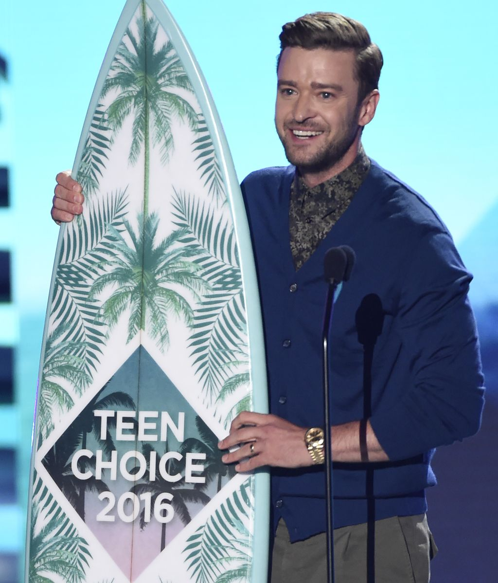 Justin Timberlake durante los 'Teen Choice Awards'